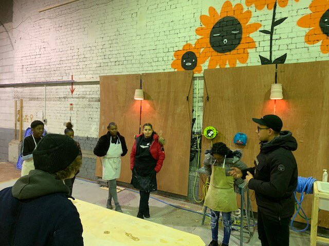 24393249169 Great to have the team from KYSO Club down at the Tiles making workshop  with MIF at Mayfield Depot